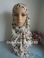M1949 Spring And Summer New Sedign 180cm 70cm Chiffon Muslim Long Scarf Cool Style Islamic Hijab