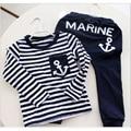 Marine Navy Sailor Boys Sport Suits Children Clothes Set for boy Kids Tracksuit T-Shirts Trouser Sets Boys Clothing Sweatshirts