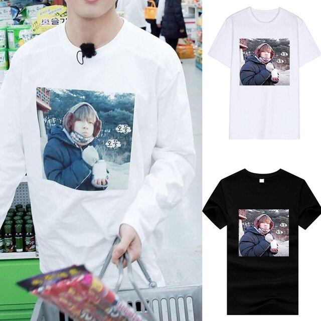 Envío de la gota Idol Kpop BTS Bangtan Boys sucias TAEHYUNG camiseta BTS  Meme camiseta algodón 89abe8020e0dd