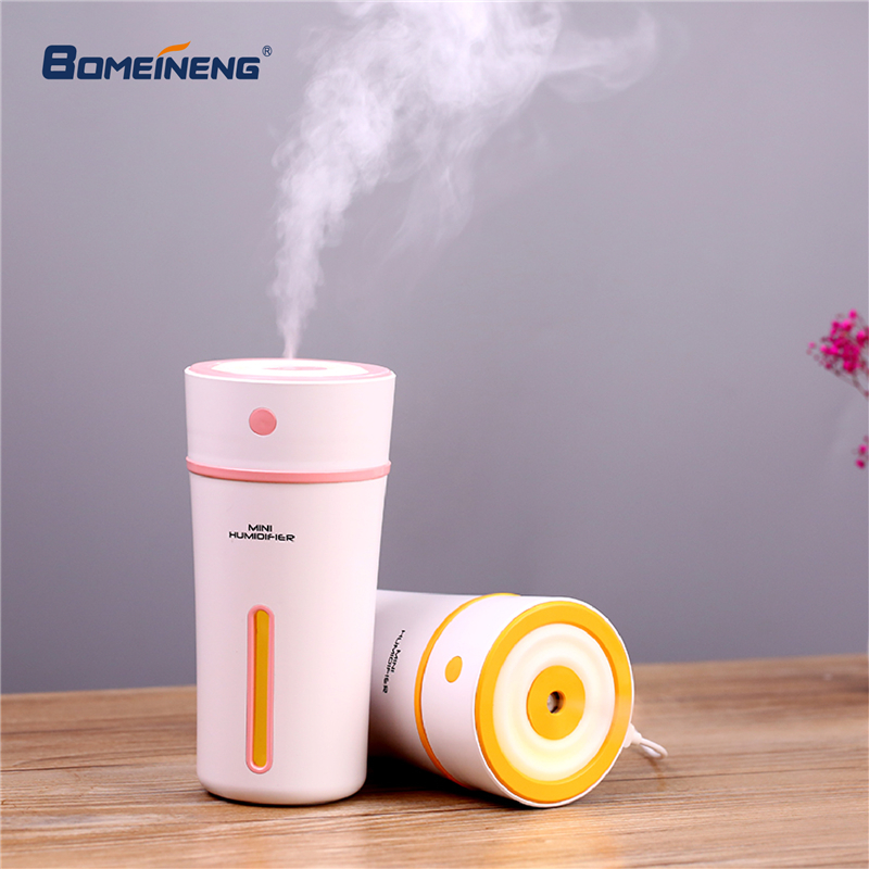 Hot Sale Mini Purifying Air Humidifier Usb Lamp Led Portable Light Usb Night Light Led Energy Saving Small Table Usb Humidifier Lamp Fast Color Air Purifier Parts