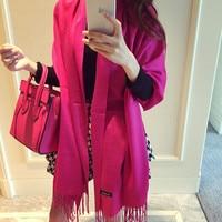 2016 Brand Pure Cashmere Scarf Shawls For Women Fashion Wool Wraps Warm Winter Shawls 190 65cm