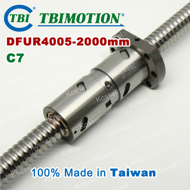 TBI 4005 Right Rotation 2000mm Customized Grinding Ballscrew DFU4005 ball screw with one Double ball nut  diy CNC machine винт tbi sfkr 0802t3d