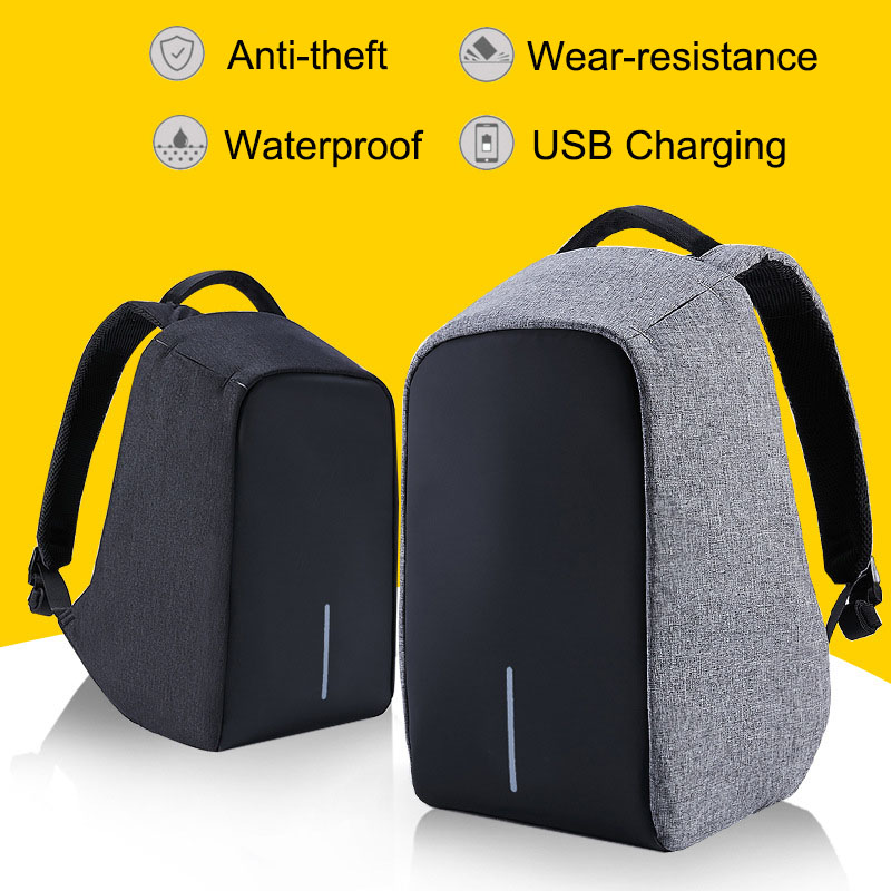 Multifunction USB Charging Waterproof Anti Thief 15 Inch Laptop Backpacks for Men Women Leisure Travel Business School Backpack