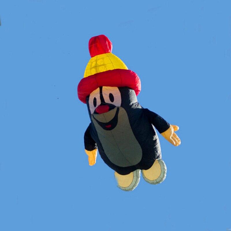 Livraison gratuite haute qualité 3.2m pingouin cerf-volant gonflable cerf-volant ligne bobine bar cerf-volant géant poulpe sports plein air jouets décoratifs
