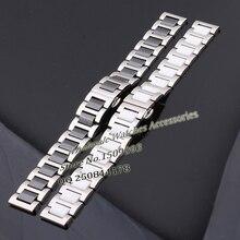 Высокое Качество Смотреть Группы Керамические Ремешок Для Часов Алмаз Смотреть Общие 16 18 20 мм из нержавеющей стали с керамической моды браслет