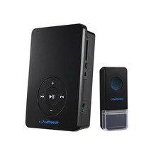 Беспроводной Беспроводной Дверной Звонок MP3 Doorchime Дверной Звонок Колокольчика С Дистанционным Управлением, Черный, Доказательство Воды, Объем Регулируемых