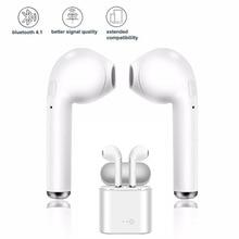I7s TWS Bluetooth наушники Беспроводная Спортивная гарнитура с зарядным устройством для телефонная гарнитура для iphone android Мини наушники