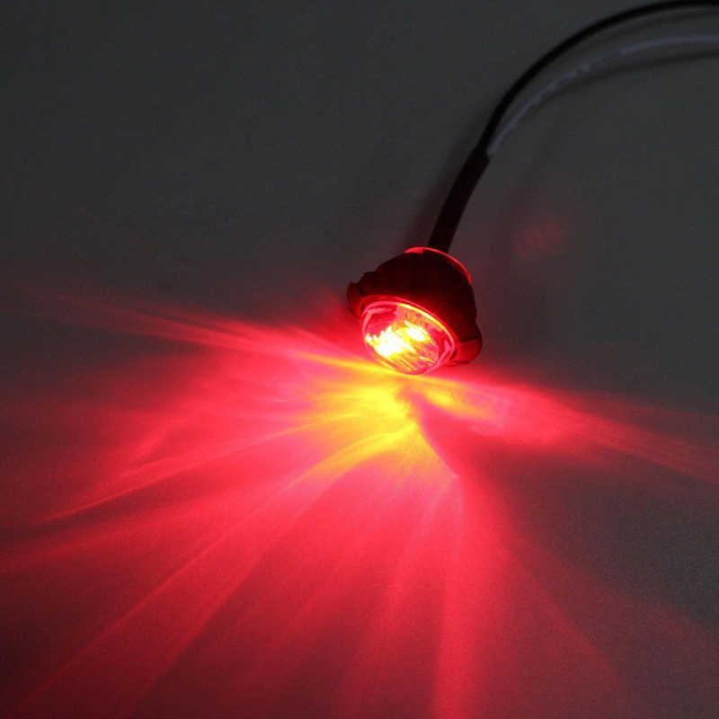 """1 Pair Mini DC 12 V 3/4 """"Bulat Sisi 3 Marker LED Trailer Peluru Mobil Lampu Penanda Sisi lampu"""