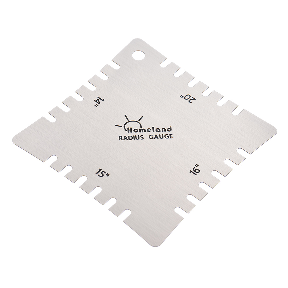 Stainless steel guitar notched ruler gauge tool for fingerboard fretboard DE YR