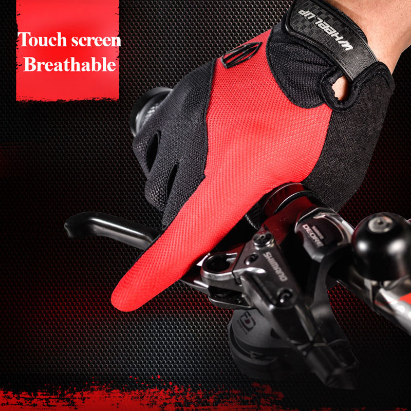 Cycling font b gloves b font mtb full finger Bike Mittens waterproof touch screen road mountain