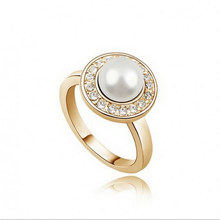 AliExpress selling high-end jewelry simulated pearl jewelry rings - love life, 1281-33 (4 colors into)(China)