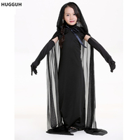 Children S Day Polyester Dress Performances Disfraces Girl S Black Ghost Halloween Cosplay Witch Costumes High