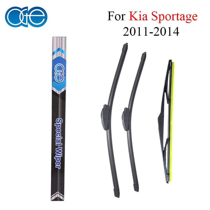 Oge Front And Rear Wiper Blades For KIA Sportage 2011 2012 2013 2014 Natural Rubber Windscreen Windshield Auto Car Accessories