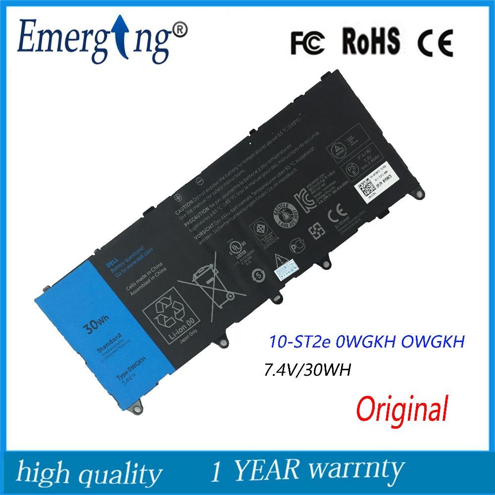 7.4 V 30Wh Nouveau Original batterie d'ordinateur portable pour Dell Latitude 10 ste2 OWGKH H91MK Y50C5 0 WGKH