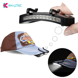 Super Bright 11 LED cap light Headlight HeadLamp head Flashlight head Cap Hat Light Clip on light Fishing head lamp