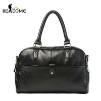 Waterproof PU Leather Gym Bags Crossbody Sports Fitness Bags Men S Gymnastic Handbag With Compartment Women
