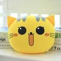 1 шт. 25 * 35 см милый кот выражение лица подушки мягкие чучела плюшевые игрушки подушки высокого Qualitty прекрасные подарки бесплатная ShippingYZT0049