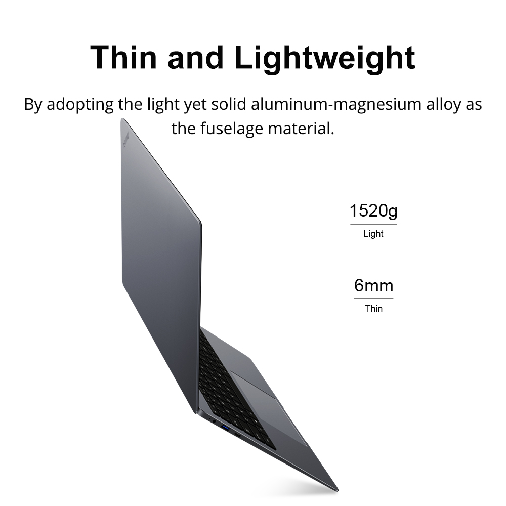 CHUWI LapBook Plus 15.6 Inch 4K Screen Intel X7 Quad Core DDR4 8GB 256GB SSD Windows 10 Laptop with M.2 Expansion Slot 4