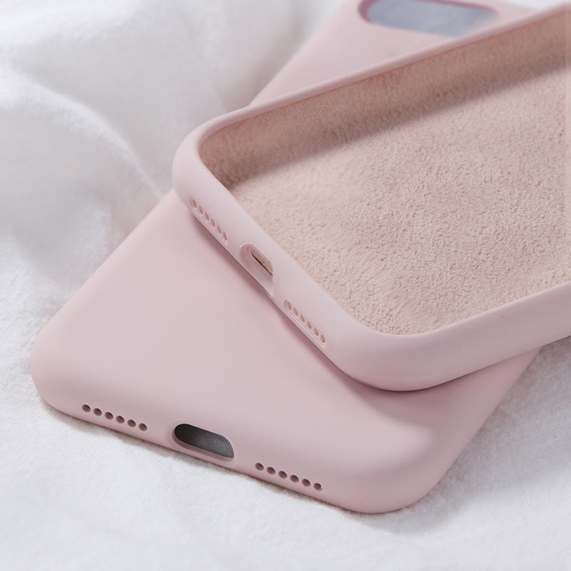 Official Liquid Silicone Phone Case <font><b>for</b></font> <font><b>iphone</b></font> 11 Pro MAX XS MAX XR 7 8 <font><b>6</b></font> Plus Soft Gel Rubber Shockproof <font><b>Cover</b></font> Microfiber Candy image