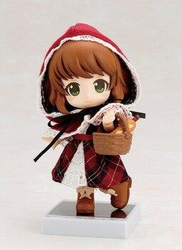 KUMALAZY Little red riding hood Little Red Q phiên bản 10 CM Nendoroid PVC Action Figures Mẫu Đồ Chơi Thu