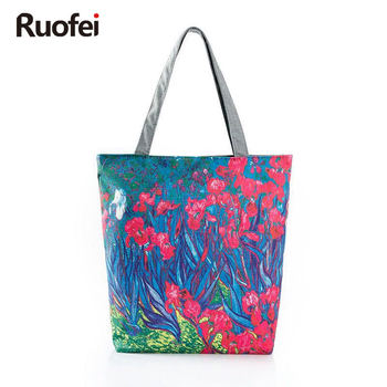 2017 Floral Printed Canvas Tote Female Single Shopping Bags Large Capacity Women Canvas Beach Bags Casual Tote Miyahouse tote bag
