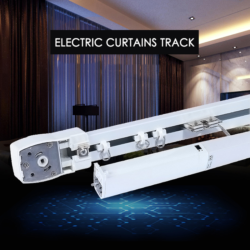 High Quality electric curtain track for KT82 /DT82TN motor silent curtain track for smart home free shippingBlinds, Shades & Shutters   -