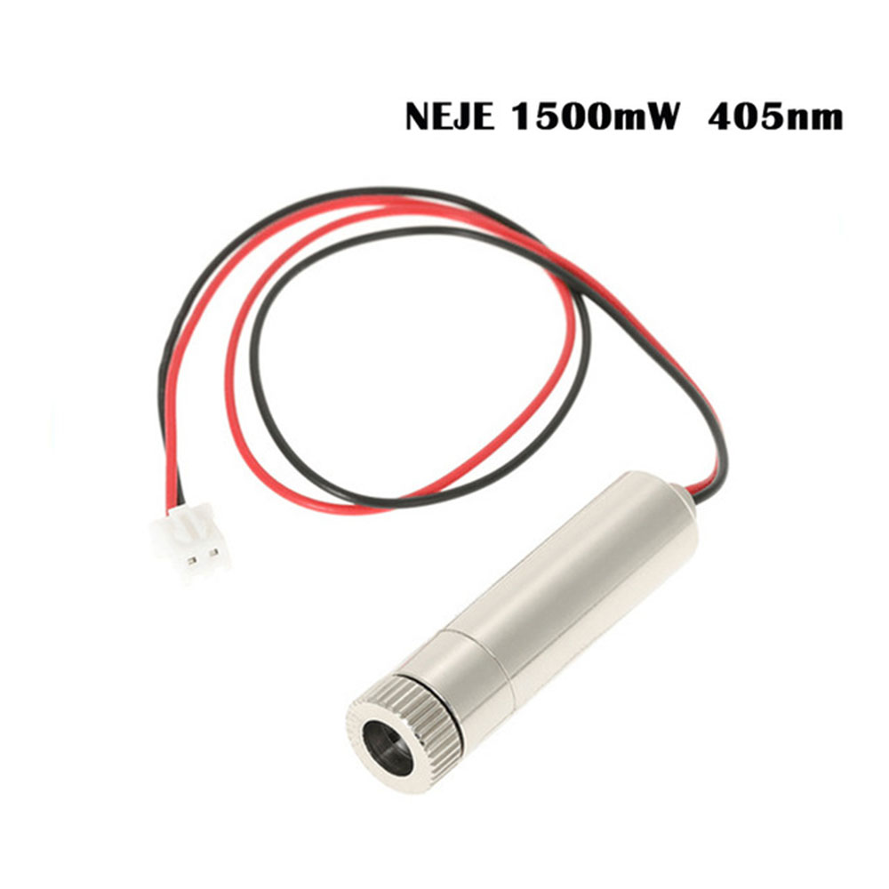 NEJE 1500mW 405nm laser cutter module CNC laser Engraver Accessory for DIY Carving Engraving Machine with Blue violet light 1500mw 405nm violet light laser head laser engraver accessory for cnc laser cutter cnc router diy carving engraving machine