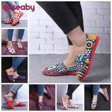 Girseaby Vintage mujer flats señoras Casual lona zapatos Lazy's alpargatas para mujer Unisex mocasín respirable alpargatas zapato