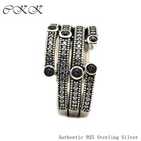 Authentic 925 Sterling Silver Shimmering Ocean Ring for Women DIY Fine Jewelry SR093