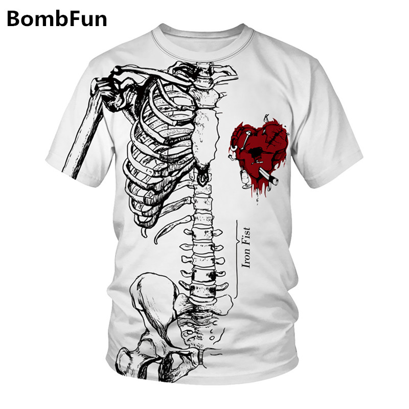 Men&Women Summer T-shirt Skull T Shirt 3d Print Funny T-shirts Hip Hop Motorcycle Punk Tees Couples High Quality Pullovers Tops