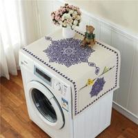 레트로 유럽 인쇄 꽃 세탁기 냉장고 먼지 커버