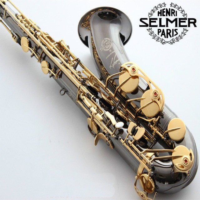 Free shipping EMS Genuine France Selmer Tenor Saxophone R54 Professional B Black Sax mouthpiece With Case and Accessories #9  цена и фото