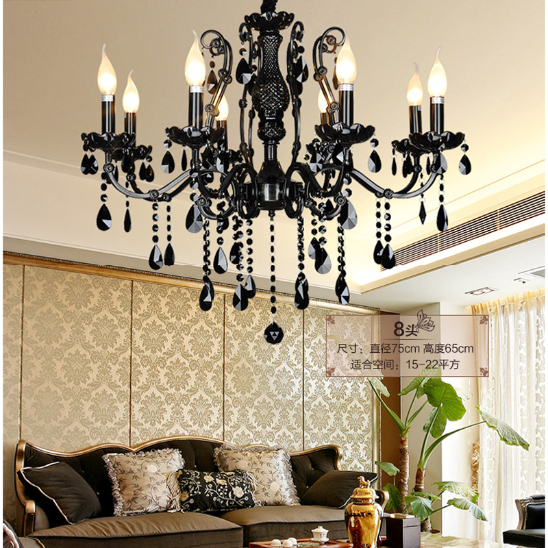 Exceptional Modern Black Chandelier Bedroom Classical Crystal Chandeliers Vintage China  Lighting Wrought Iron Chandelier Living Room Lamps
