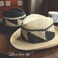 New Trendy Summer Large Brim Straw Beach Hats For Women Sun Floppy Hats Female Sunbonnet Free Shipping SDDS-025