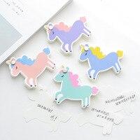 20 Sets 1 Lot Memo Pads Kawaii Stickers Unicorn Cactus Sticky Notes Escolar Papelaria School Supply