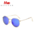 MEESHOW Retro clássicos óculos redondos estilo das mulheres dos homens do metal óculos de sol com espelho cor da moda transferência gratuita