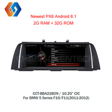 10,25 Android 8,1 для BMW 5 серии F10 F11 CIC черный Экран автомобиля gps навигации Мультимедиа стерео Встроенный BT Wi-Fi телефон зеркало 9