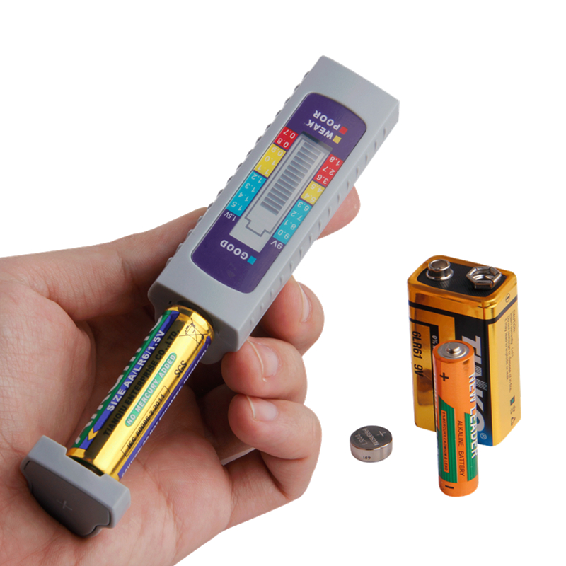 Batterijtester Digitale universele batterijcapaciteitstester voor AA / AAA / 1.5V 9V lithiumbatterij Voeding Checker Meetinstrument