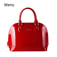 European fashion women lacquer bag leather shell ba