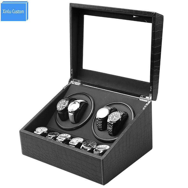 watch winder leather eu us uk au plug gratis verzending japan machubi Collection 4+6 Watch motor box case Display Jewelry Blackwatch winder leather eu us uk au plug gratis verzending japan machubi Collection 4+6 Watch motor box case Display Jewelry Black