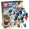 385 шт. 14008 Новых Рыцарей короля Мех Модель Строительные Блоки Детей Кирпич Горячей Продажи Nexus Совместимо С Lego
