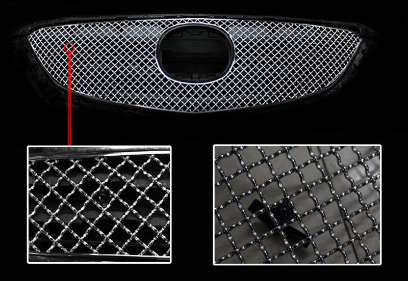 Front Grille Grill Bezel Honeycomb Mesh Cover For Mazda 6 M6 Atenza 2013 2014 2015 chrome front hood grill cover trim for 2014 2015 mazda 6 atenza