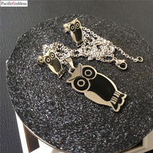 owl stainless steel necklace pendant for best gift