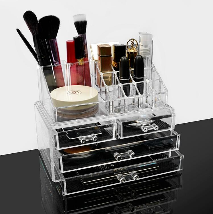 Acrylic Makeup Brush Storage Lipstick Holder Vanity ...