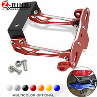 Motorbike Adjustable Angle Aluminum License Number Plate Holder Bracket universal for Suzuki GSXR GSX R 600 750 1000 K1 K2 K3 K4