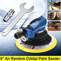 6 Inch 10000rpm Round Air Orbital Sander Random for Sander 150mm Dualable Action Auto Body Orbit DA Sanding Hand Tool