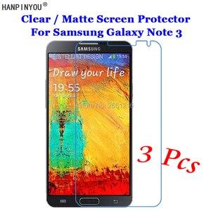 """3 шт./лот для Samsung Galaxy Note 3 III N900 5,7 """"HD Ясно/с антибликовым покрытием матовый передний экран протектор сенсорный защитная пленка кожи"""