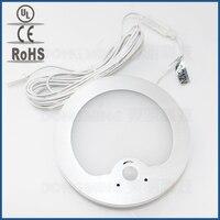 3 2W LED PIR Infrared Body Motion Sensor Lamp 12V Cabinet Light Wall Mount Nightlight Detector