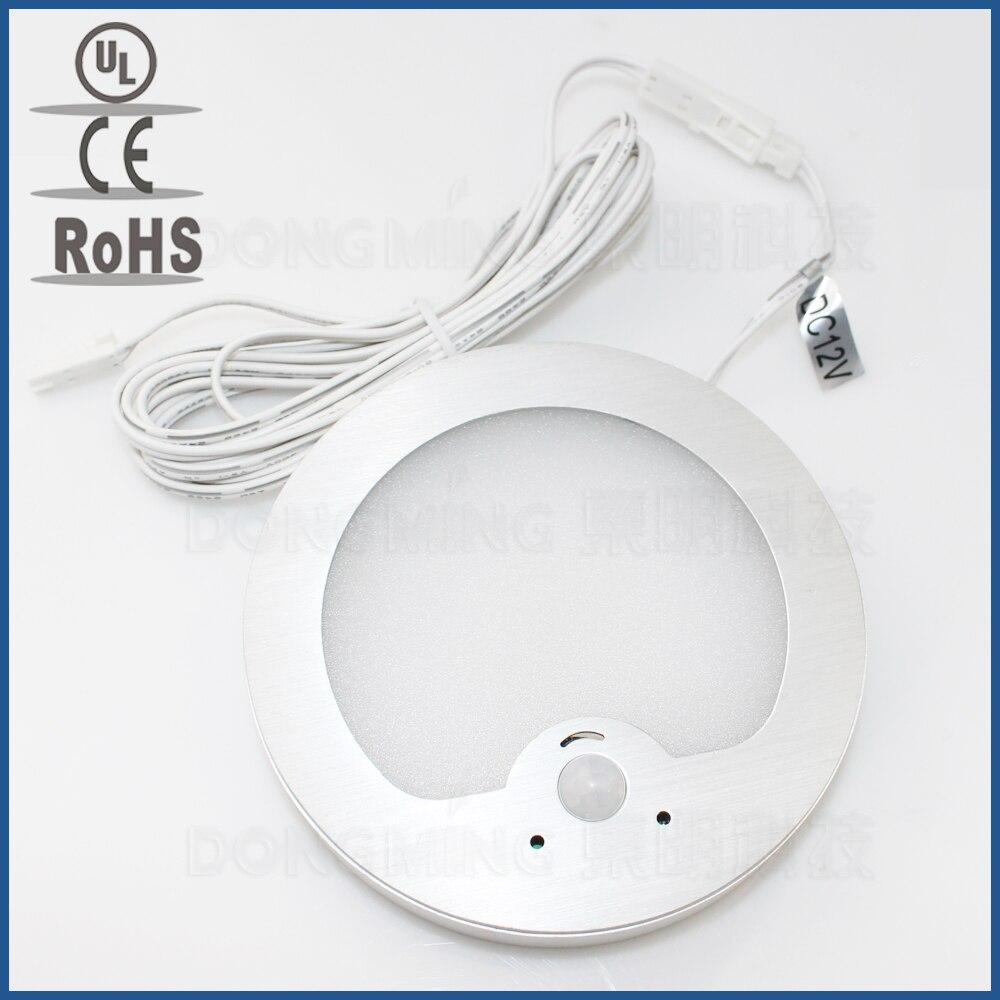 3 2 Watt LED PIR infrarot Körper Bewegungsmelder lampe 12 V kabinett licht wandhalterung nachtlicht Detektor für kleiderschrank downlight LED panel-in LED-Nachtlichter aus Licht & Beleuchtung bei title=