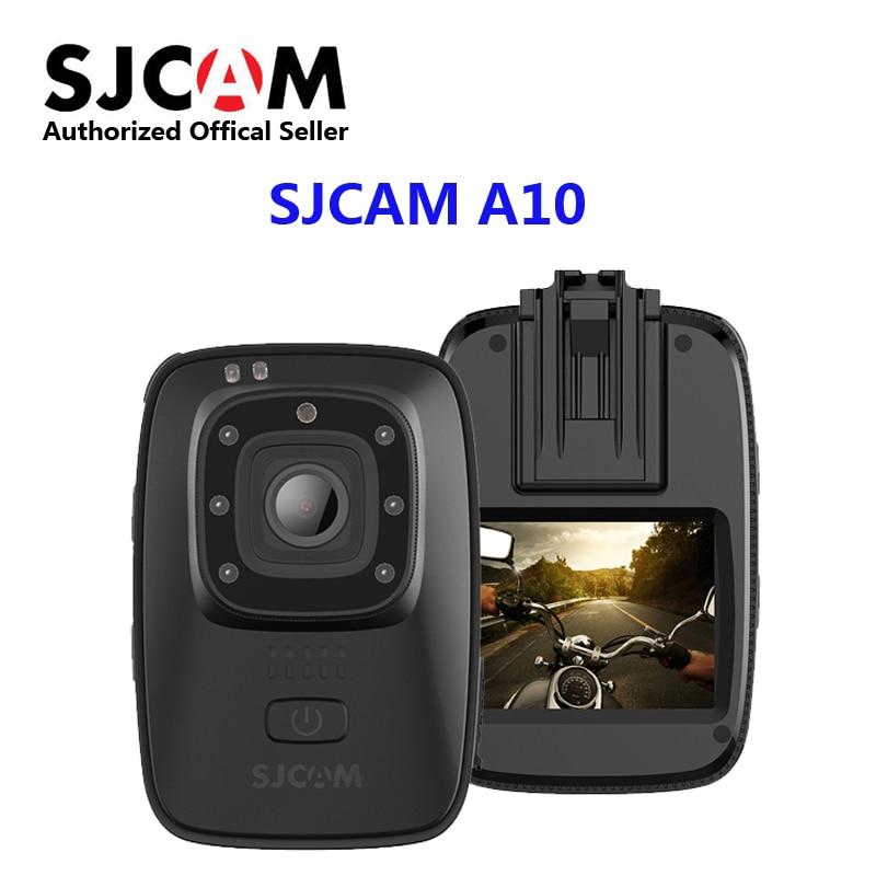 SJCAM A10 Full HD 1080P 30fps 2 Wearable Body Cam Novatek 96658 IMX323 Infrared Security Camera